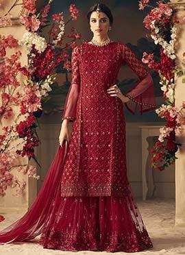 4b9b32352f6 Palazzo Suit: Buy Salwar Kameez Palazzo Suit | Online Wedding ...