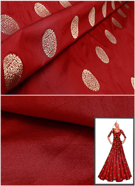 Maroon Front Slit Anarkali Suit