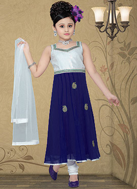 Modish Lavendar Georgette Teens Anarkali Suit