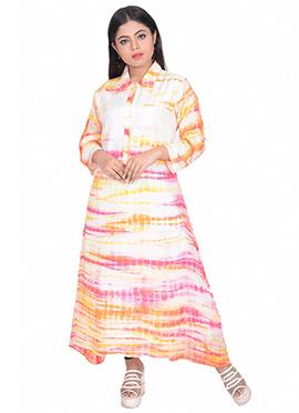 Multicolor Art Silk Kurti