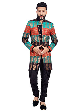 Multicolored Breeches Sherwani