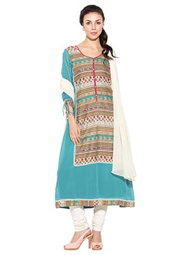 Multicolored Printed Anarkali Suit