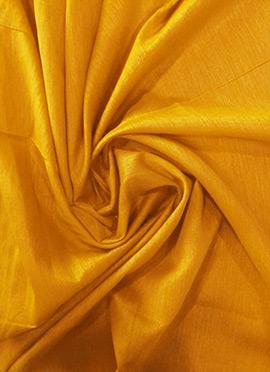 Mustard Art Raw Silk Fabric