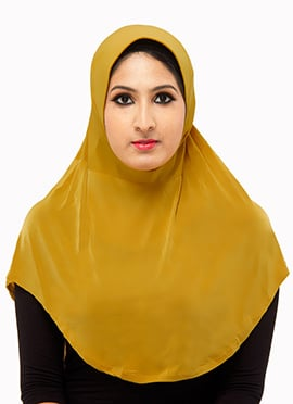 Mustard Poly Cotton Hijab