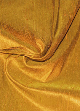 Mustard Yellow Art Raw Silk Fabric