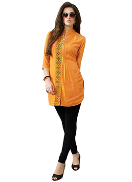 Mustard Yellow Viscose Tunic