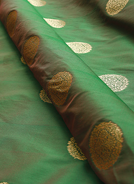 Olive Green Art Silk Fabric