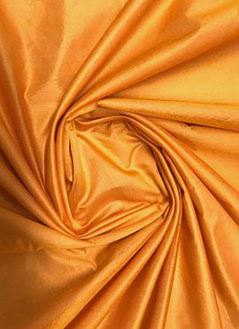 Orange Chanderi Cotton Fabric