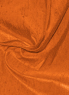 Orange Raw Silk Fabric