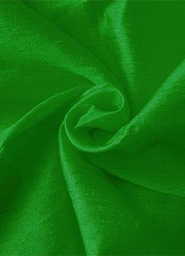 Parrot Green Art Dupion Silk Fabric