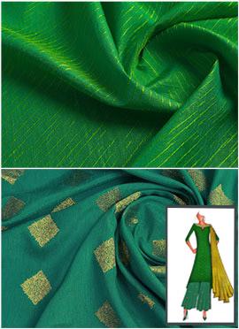 Parrot Green N Aqua Blue Palazzo Suit