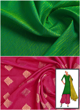 Parrot Green N Pink Palazzo Suit