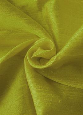 Pea Green Art Dupion Silk Fabric