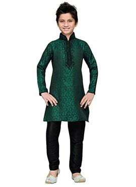 Persian Green Teens Kurta Pyjama