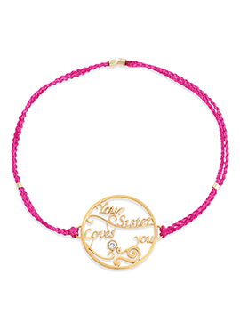 Pink Color Rakhi For Men