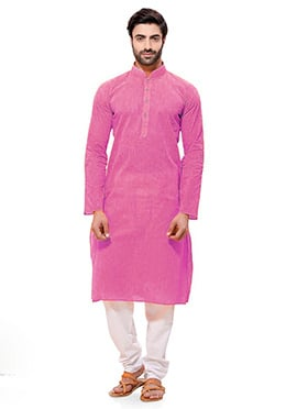 Pink Cotton Kurta Pyjama