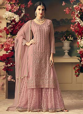 Sonal Chauhan Pink Embroidered Palazzo Suit