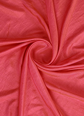Pink Polysilk Fabric
