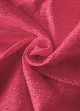 Pink Yarrow Art Dupion Silk Fabric