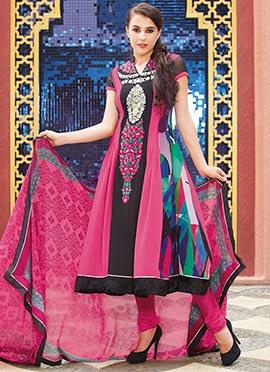 Printed Georgette Kalidar Suit