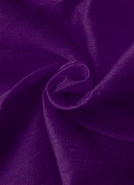 Purple Art Dupion Silk Fabric