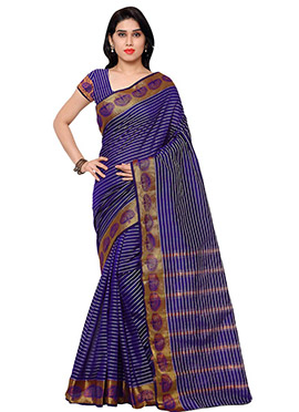 Purple Benarasi Art Silk saree
