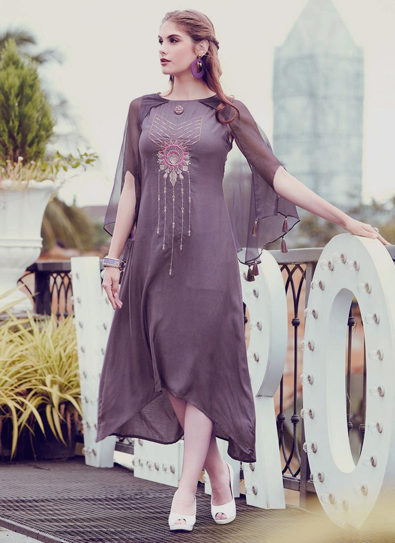 5480ed0c9fa1 Buy Purple Embroidered Dress