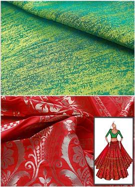 Red N Green Umbrella Lehenga Choli