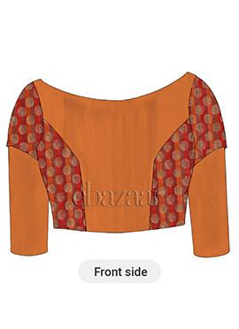 Red Orange Taffeta Blouse