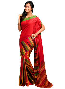 Red Pure Silk Handloom Saree