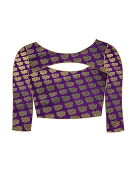 Purple Brocade Blouse