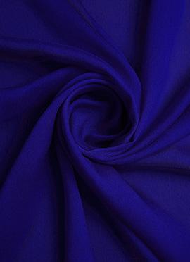 Royal Blue Chiffon Fabric
