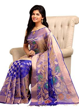 Royal Blue Pure Silk Handloom Saree