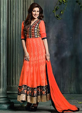 Sonali Bendre Embroidered Anarkali Sui