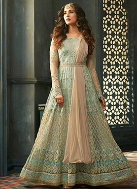 Sonal Chauhan Light Green Net Anarkali Suit