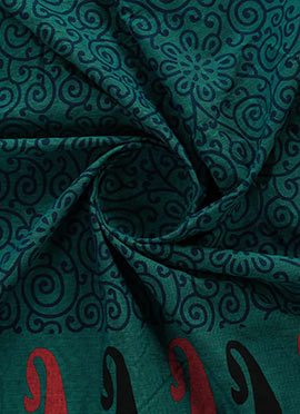 Teal Green Cotton Fabric