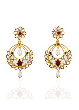 Tricolored Chandelier Earrings