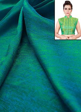 Turquoise Art Silk Blouse