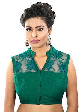 Green Readymade Blouse
