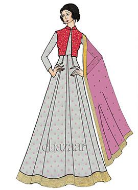 White Chiffon Full Sleeve Abaya Set