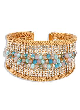 Yazuri Gold Embellished Bracelet