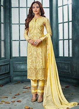 bedbd92221 Buy Yellow Salwar Kameez   Online Indian Wedding Yellow Salwar ...