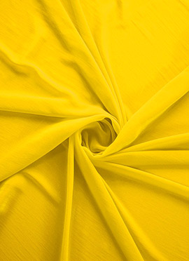 Yellow Georgette Fabric