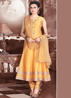 YellowIsh Kalidar Suit