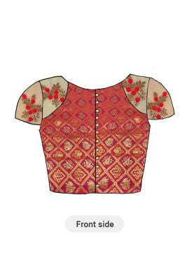 A Red N Pink Art Silk Half Sleeve Blouse