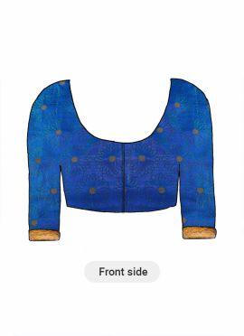 A Royal Blue Paper Silk Blouse