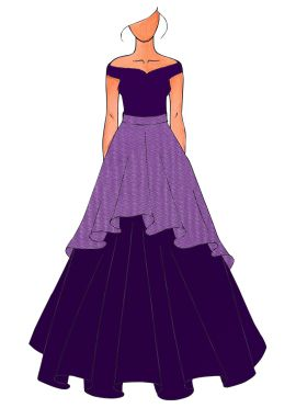 A Dark Purple Ball Christmas Gown