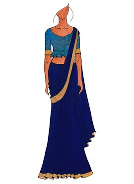 A Trendy Peplum Blouse Designer Saree
