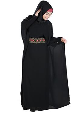 Aanisah Black Georgette Fustan