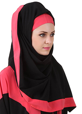 Aara Black N Pink Nida Dubai Hijab